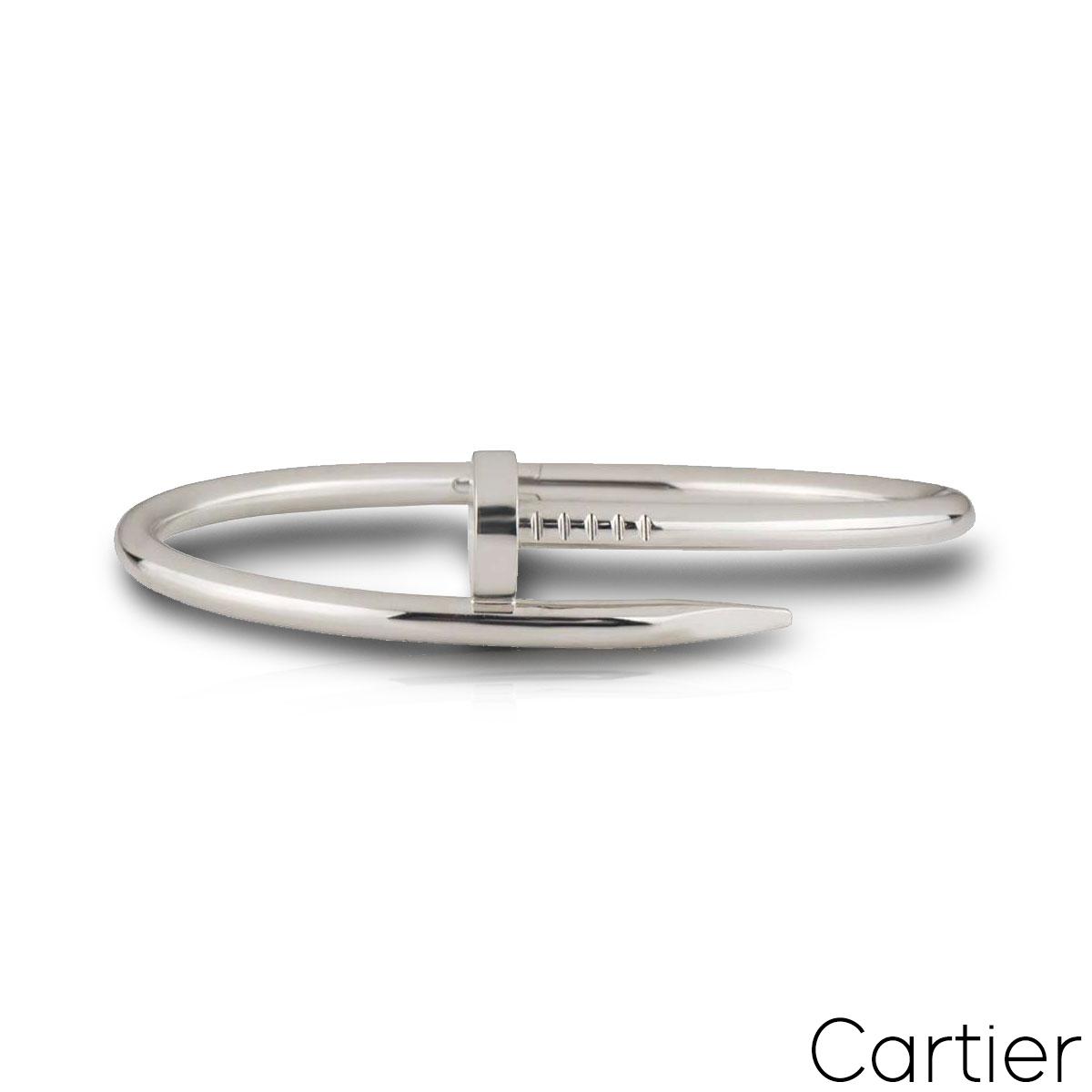 Cartier White Gold Juste Un Clou Bracelet Size 19 B6048319